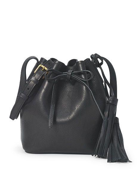 Mini Leather Bucket Bag - Polo Ralph Lauren Crossbody Bags - RalphLauren.com 2ad7c59852df5