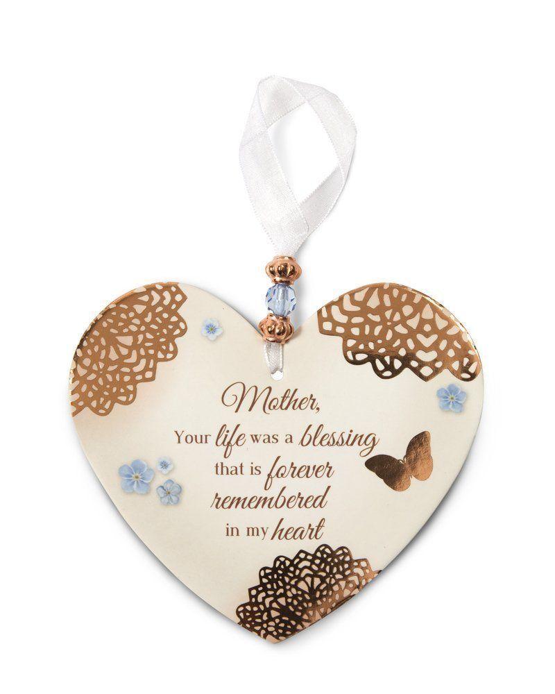 Garden memorial rock mother plaque heart shaped mom