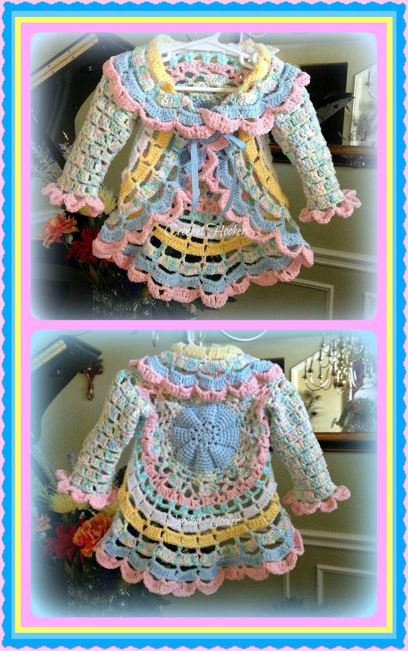 "Crochet ""Baby Cakes"" Circular Toddler Jacket"