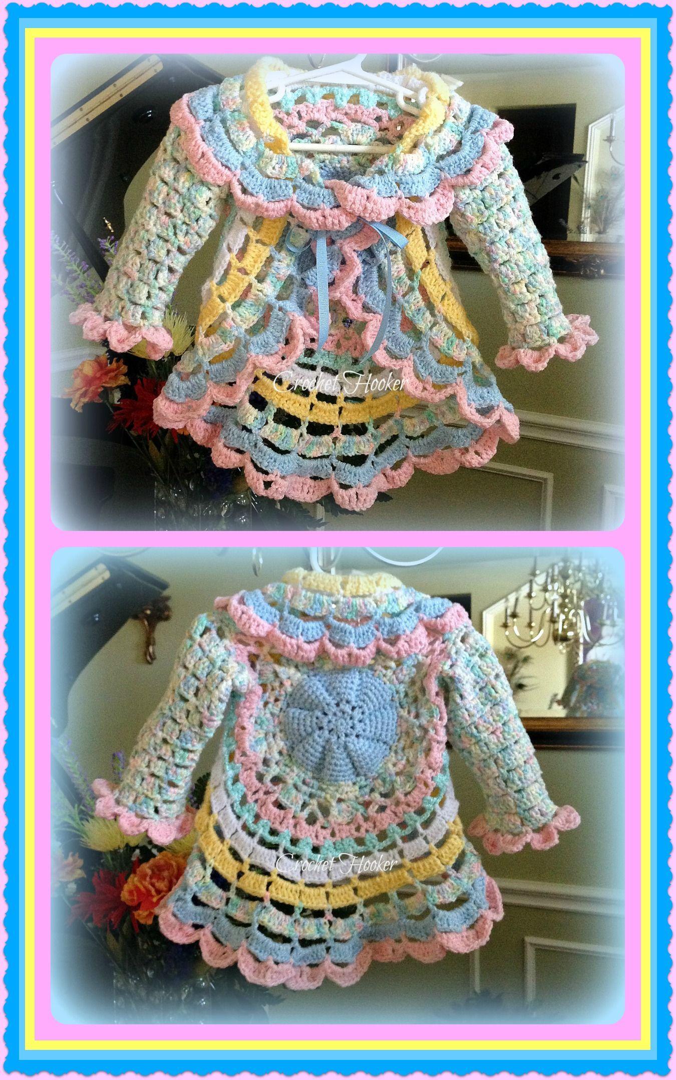 "Crochet ""Baby Cakes"" Circular Toddler Jacket"