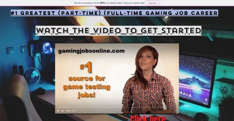 1 Greatest (Part-time) (Full-time gaming job career  Be your
