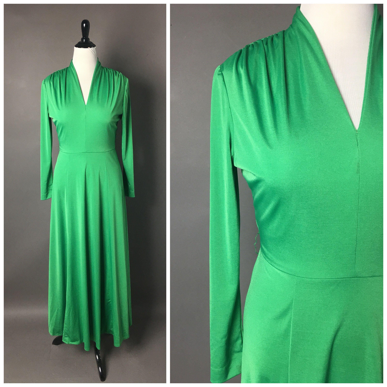 Vintage 70s Dress 1970s Dress Green Dress Maxi Dress Etsy Vintage Dress 70s Hostess Dresses 1970s Dresses [ 3000 x 3000 Pixel ]