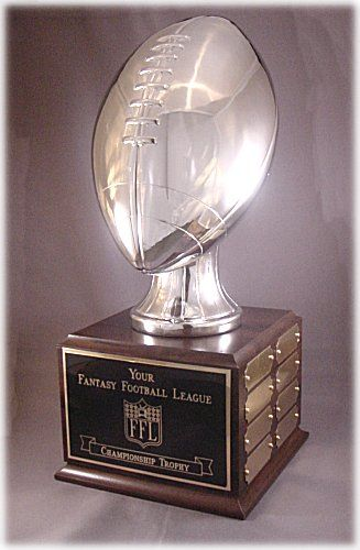 """18.75/"""" Ships 1 Day Free Engraving Fantasy Football Trophy Perpetual-16 Years"""