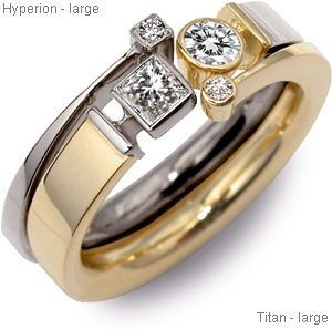 Jeremy Heber Jewellery Titan and Hyperion ring set