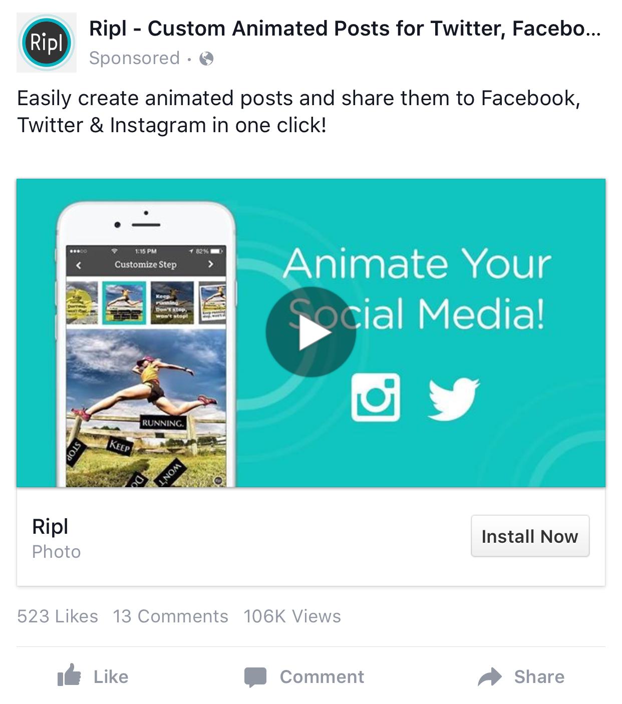 Facebook App Install Ad Examples | Facebook App Install Ad Examples