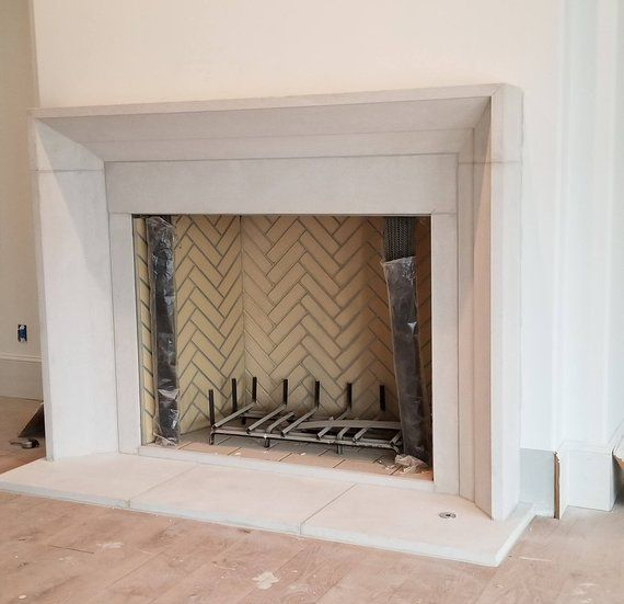 Modern Cast Limestone Fireplace Surround In 2019 Products