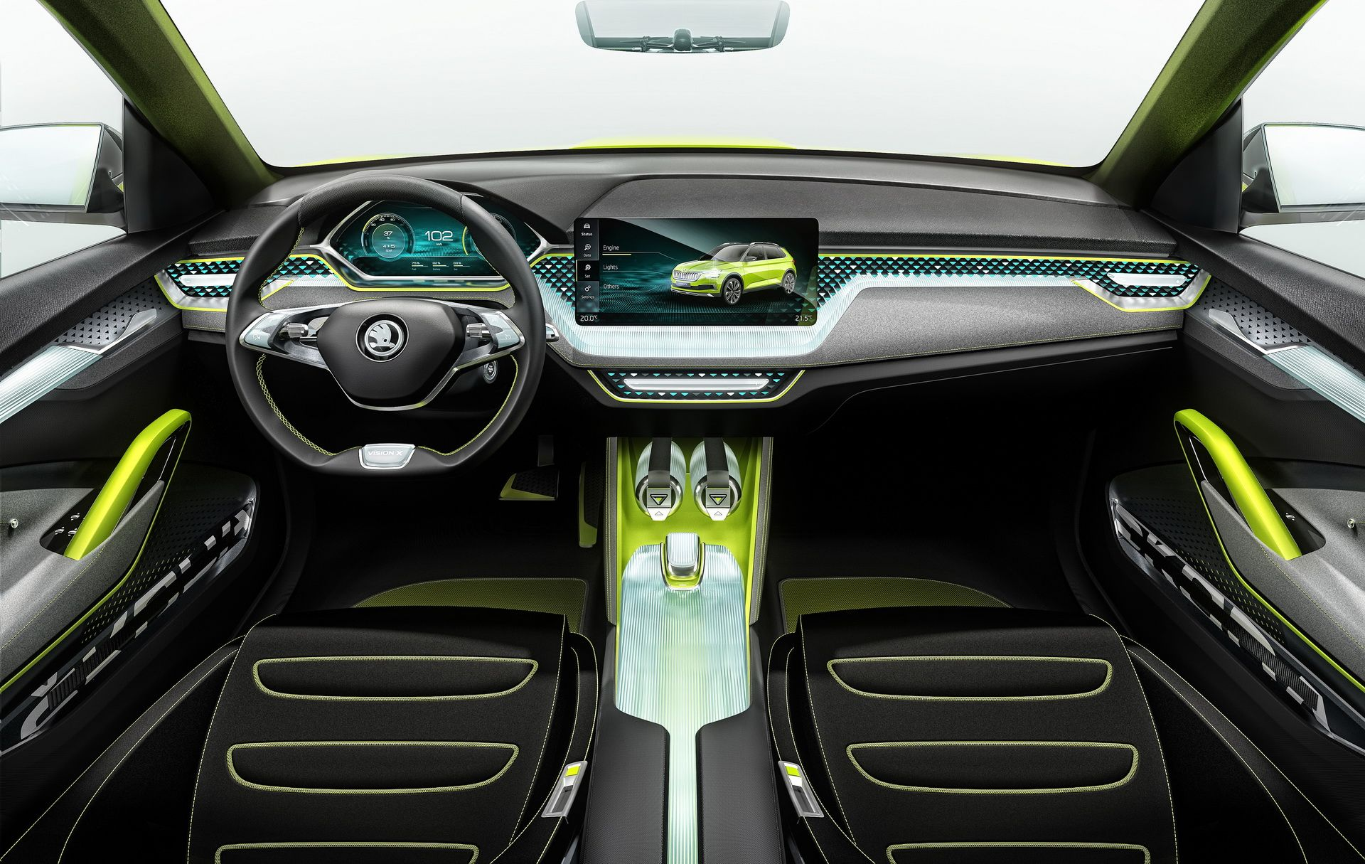 Skoda Vision X Concept 2018 Interior Car Wallpapers Geneva