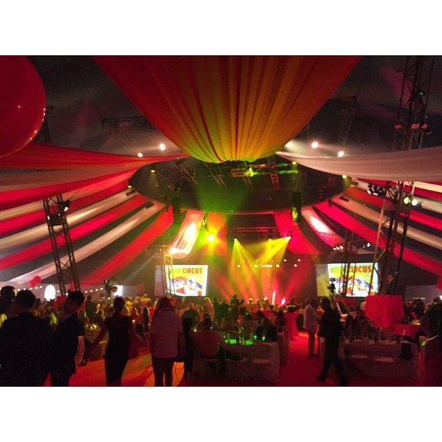 Incredible circus-inspired night partying with fellow entrepreneurs around d globe. All thanks to #EY #WEOY !