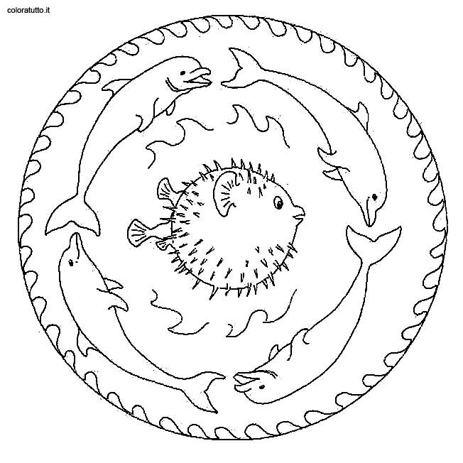 Coloring pages special mandala - picture 195