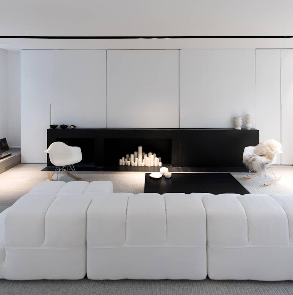 Photos de salon de style de style moderne : habitation privée vieux ...