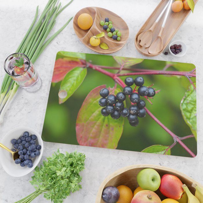 Nannyberries (Viburnum lentago) Chopping Board - a lovely and practical addition to your kitchen!  (affiliate link)