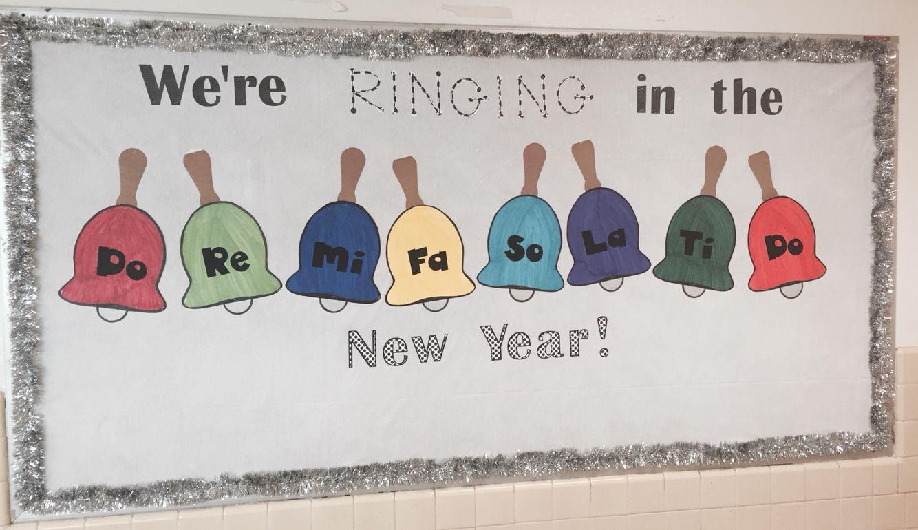 January Music Bulletin Board Room Boards Classroom Decor