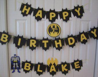 Batman Birthday Banner Party Decoration by craftysweethearts