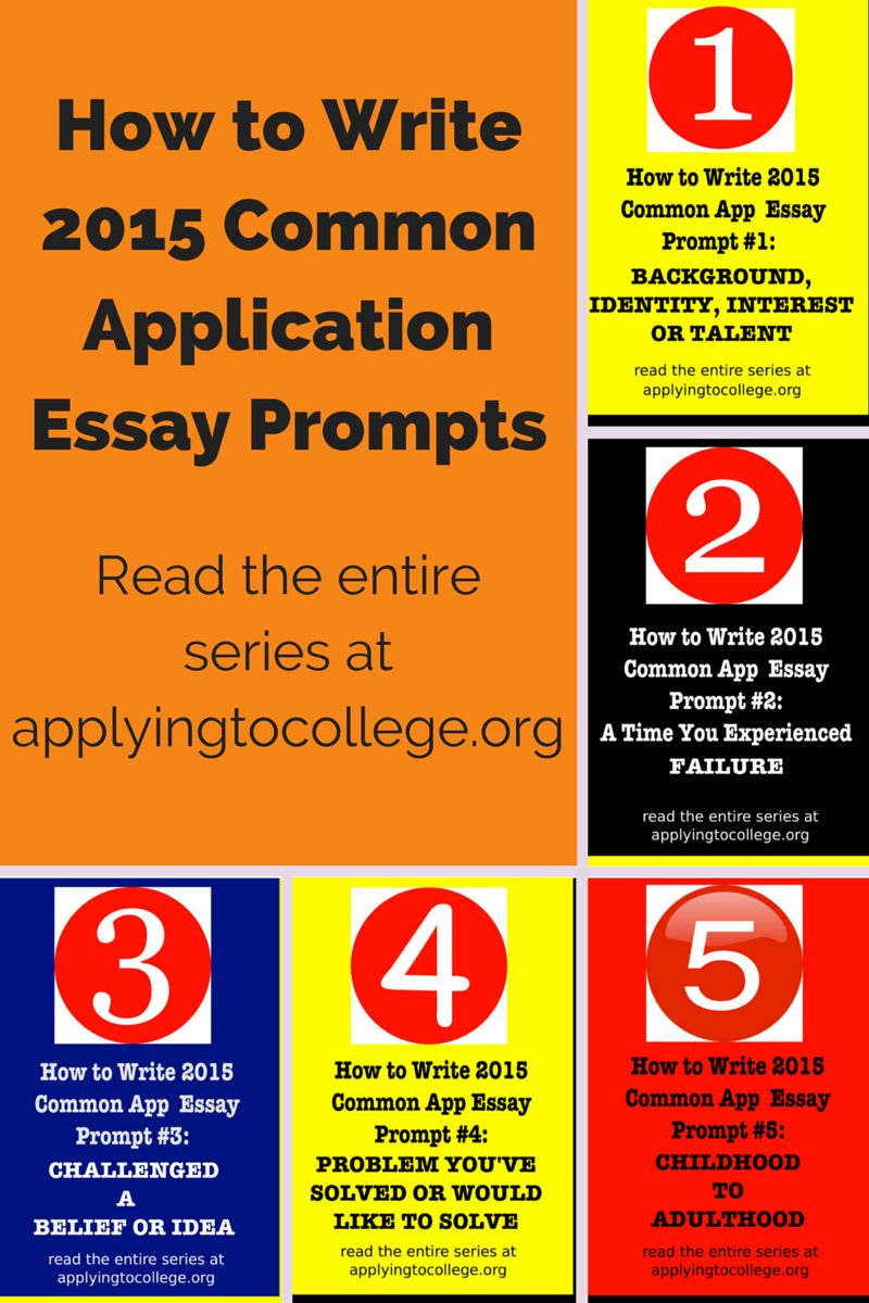 How to Write 2015 Common Application Essay Prompts #1-5 | School ...