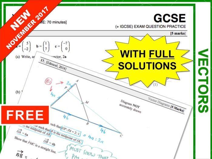 Revision secondary gcse maths revision pinterest gcse maths gcse 9 1 exam question practice vectors ccuart Choice Image