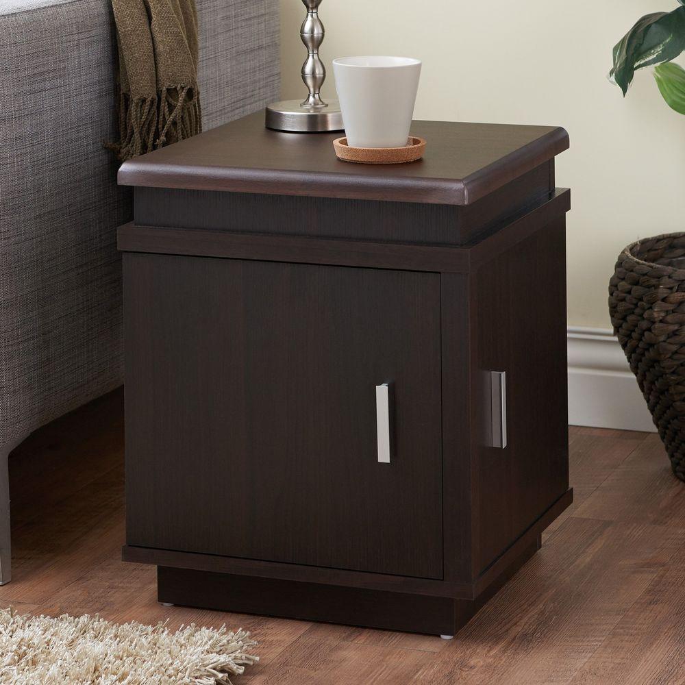 Armalla Modern Espresso Storage End Table Chair Table Lamp Table W Storage New #FurnitureOfAmerica #CasualContemporaryModern #Furniture #Storage #Table #Home