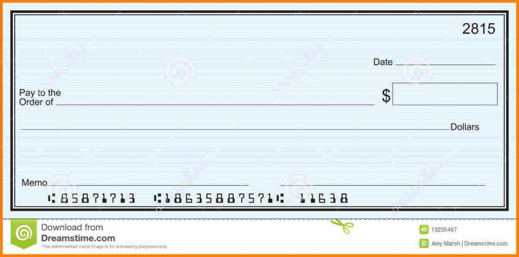 Checks Template Word Blank Check Templates For Microsoft Word Large Blank Check Blue Stripe Background Blank Check Templat Word Check Word Template Blank Check