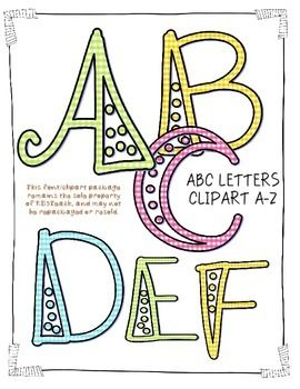 Alphabet Letters Clipart Fancy Gingham Bubbles Uppercase