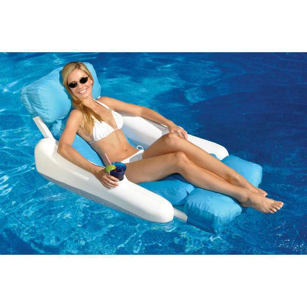 Swimming Pool Lounger Luxury Floating Pool Inflatable Beach Water Mattress Pool Lounger Swimming Pool Floats Pool Lounge Chairs