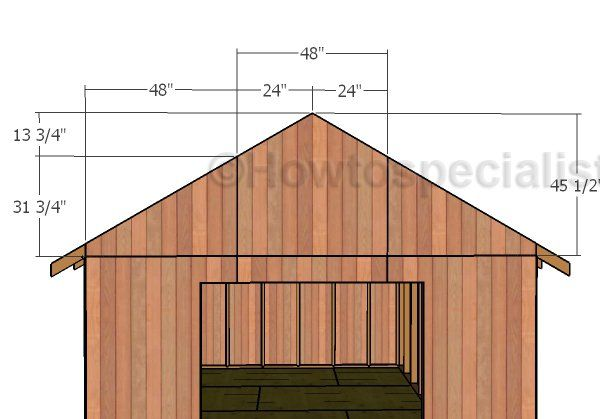 12x20 Gable Roof Plans Howtospecialist How To Build Step By Step Diy Plans Gable Roof Design Roof Plan Backyard Storage Sheds