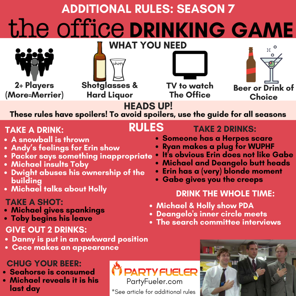 The Office Drinking Game Season 7 Extra Rules The