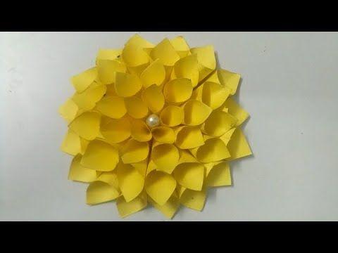 Dahlia Paper Flower Method 1|Decoration Flower|How To Make Dahlia Flower