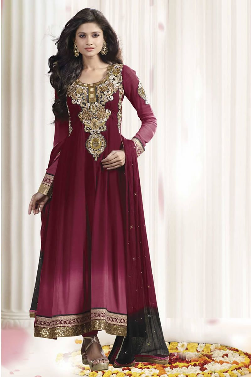 Designer long anarkali dress material anarkali dresses pinterest