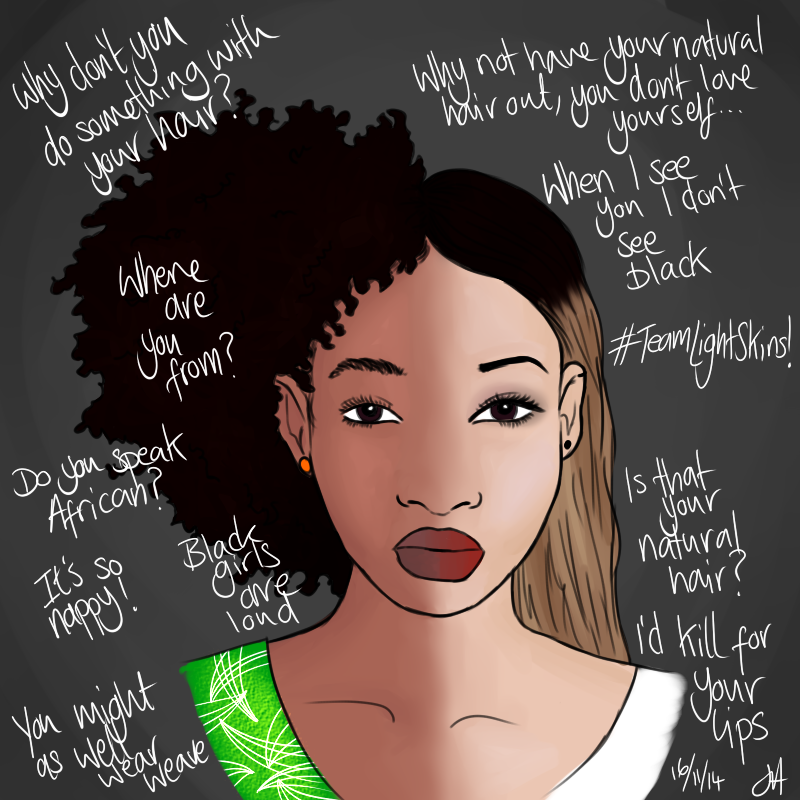 Painted Entertainment I Could Write A Whole Skietchy Comix Black Girl Problems Natural Hair Styles Black Women Art