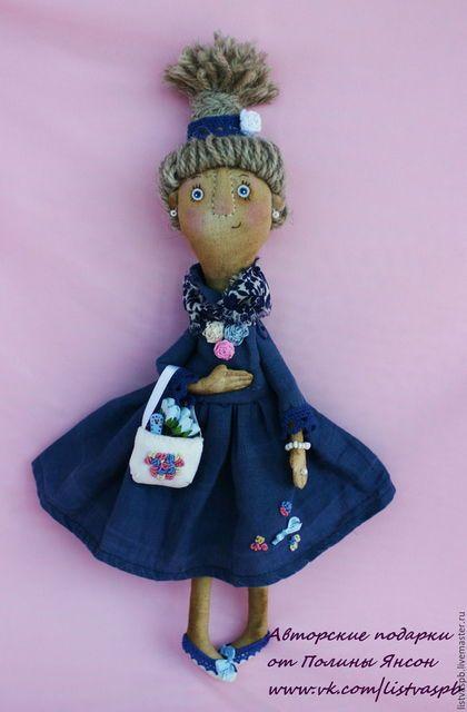 """Коллекционные куклы ручной работы. Ярмарка Мастеров - ручная работа. Купить Кукла Авторская Интерьерная """"Весеннее Настроение""""  подарок купить. Handmade."""