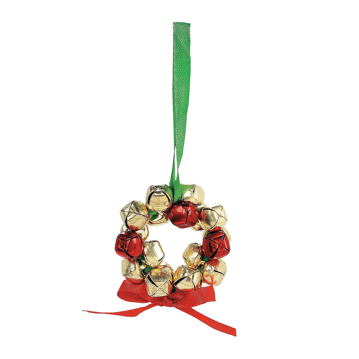 Making christmas decorations jingle bells - Metal Jingle Bell Wreath Ornament Craft Kit Orientaltrading Com