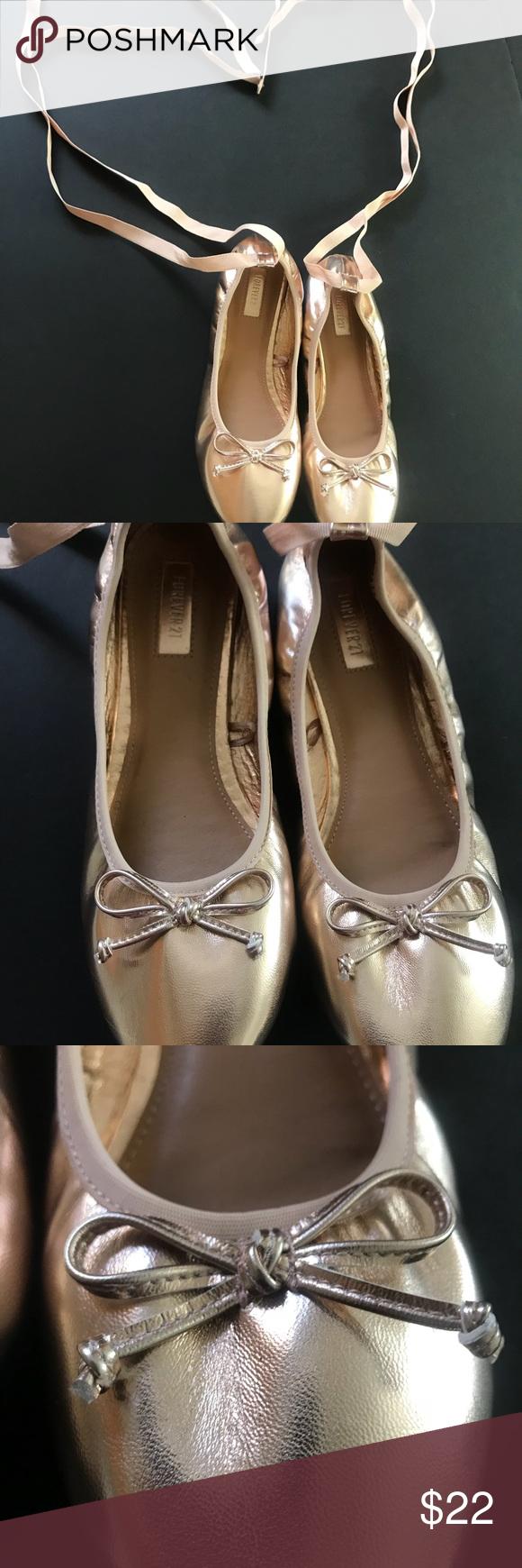 ae250ad64fb NWT Rose Gold Lace Up Ballerina Metallic Flats •Lace up ballerina flats•  SMOKE  PET FREE ENVIRONMENT NO TRADES NO holes