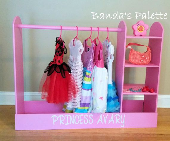 Dress Up Station - As Seen on Pinterest, Dress Up Storage, Hero Up, Closet, Costume Storage, Center, Princess Closet, Pretend, with Shelves