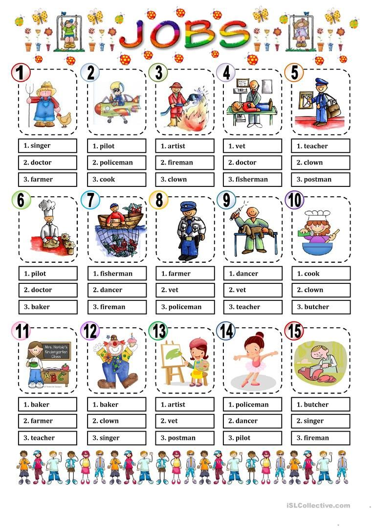 JOBS MULTIPLE CHOICE worksheet - Free ESL printable worksheets ...