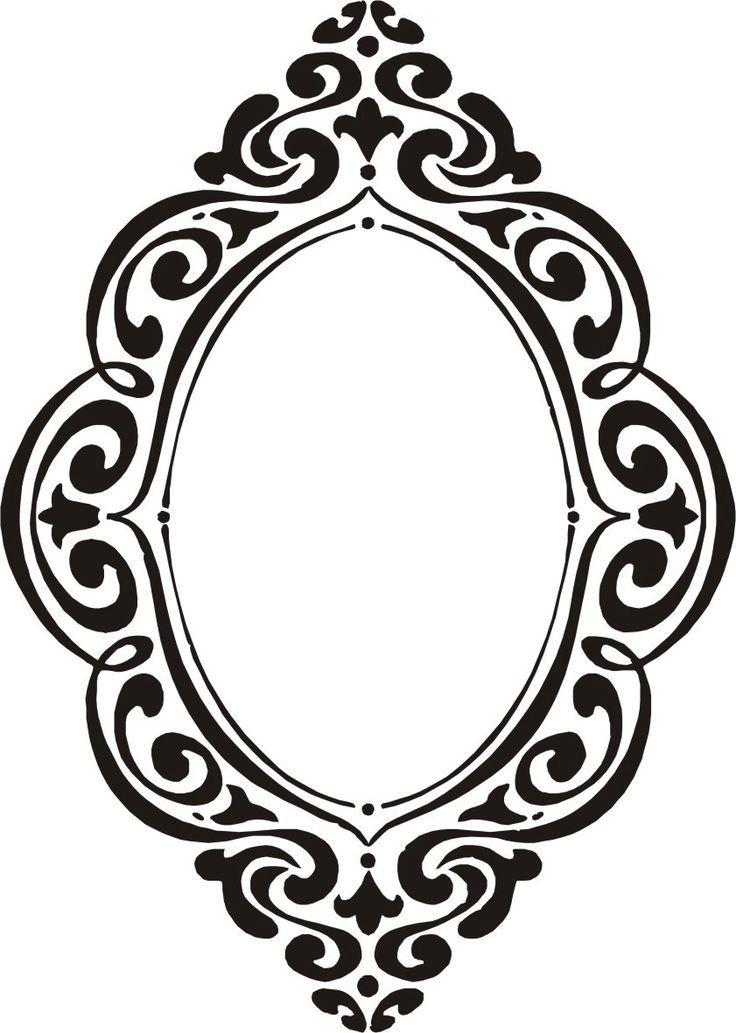 Resultado de imagen para dibujo borde espejo chiquita for Espejo marco gris