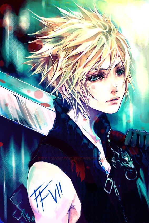 Cloud Strife Turquoise by ProdigyBombay on deviantART