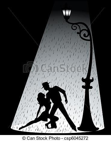 Vector  par tango bailando  stock de ilustracion ilustracion