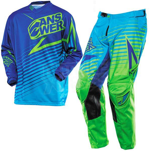 Download 2014 Answer Ion Kit Combo Blue Green Motocross Bike Style Motocross Kit
