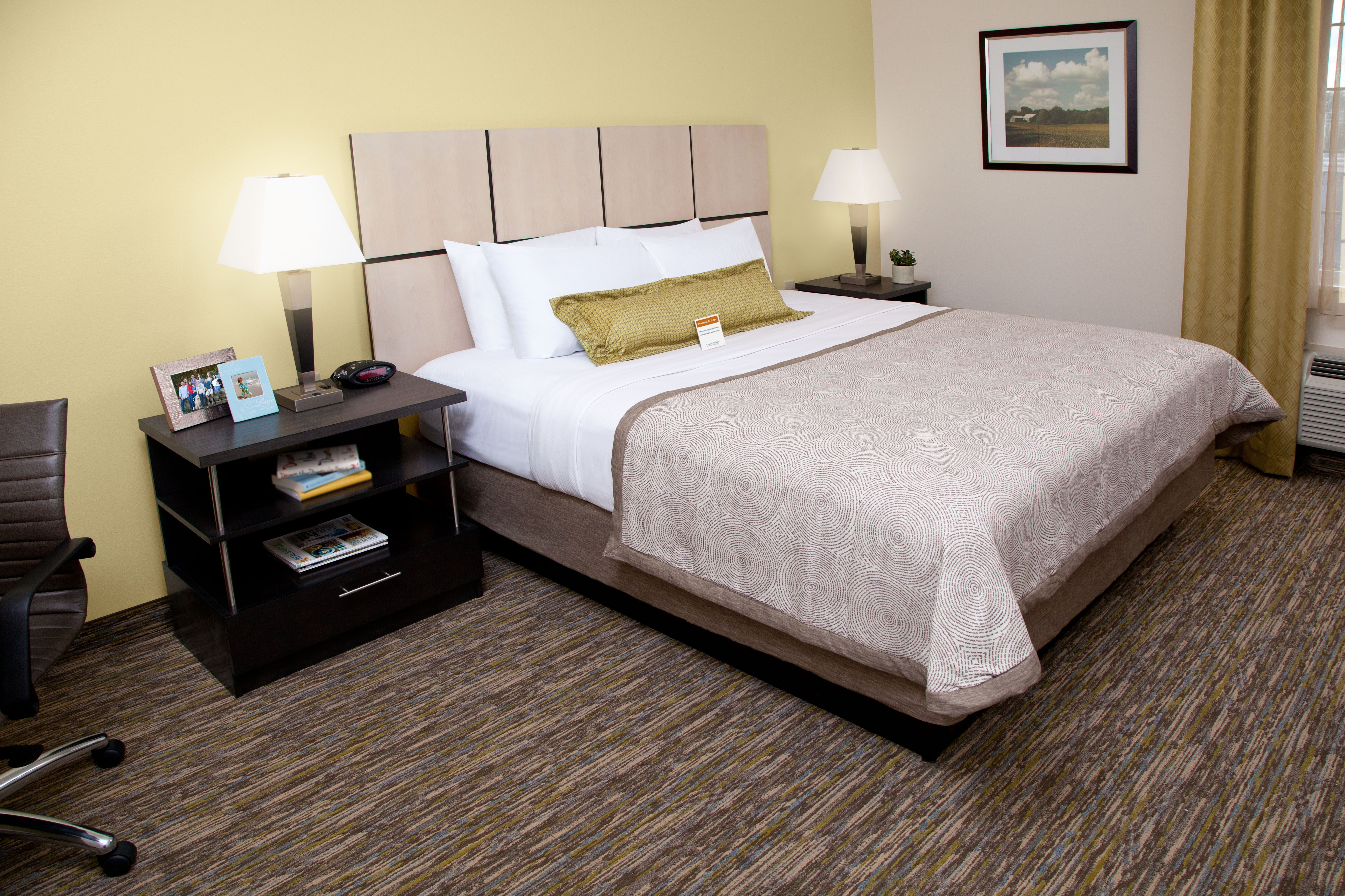 Enjoy A Night Away In One Of Our One Bedroom King Suites Home Wood Candles Suites