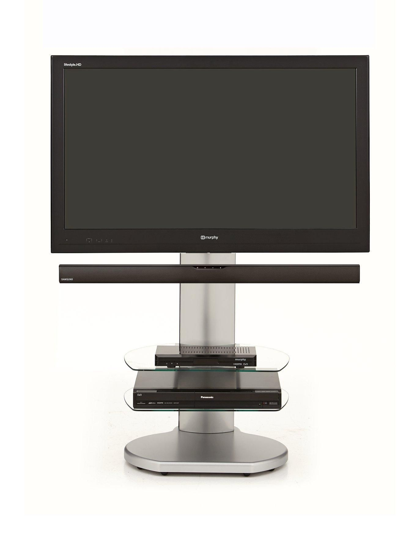 Off The Wall No More Wires Origin Tv Stand With Soundbar Bracket Tvs Up To 55 Inch Adjustable Shelf And Screen Heigh Swivel Tv Stand Tv Stand Plasma Tv Stands
