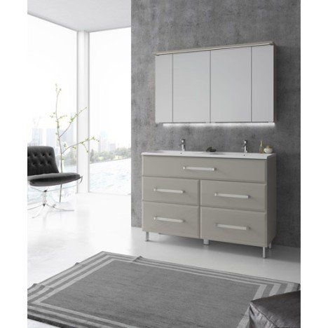 Meuble de salle de bains Opale, grège Idées salle de bain Pinterest - Meuble De Salle De Bain Sans Vasque