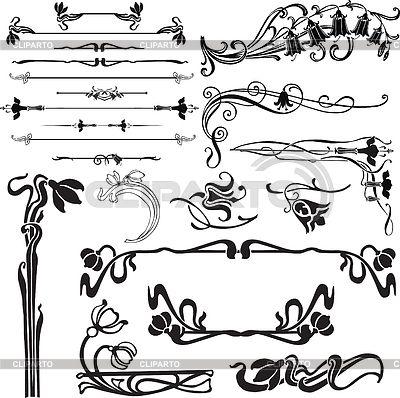 Art nouveau decoration | Stock Vector Graphics | ID 3275006 ...