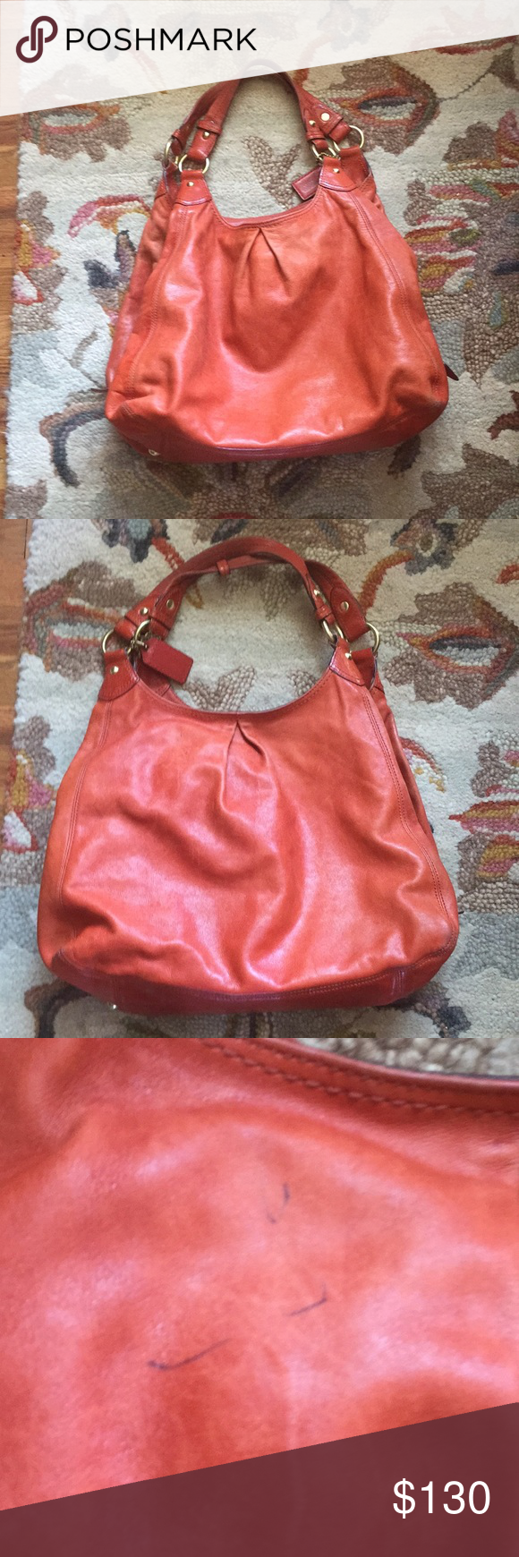 6f496d8072 COACH 13902 Extra Large Madison Maggie pleated bag COACH 13902 Extra Large  Madison Maggie pleated Leather