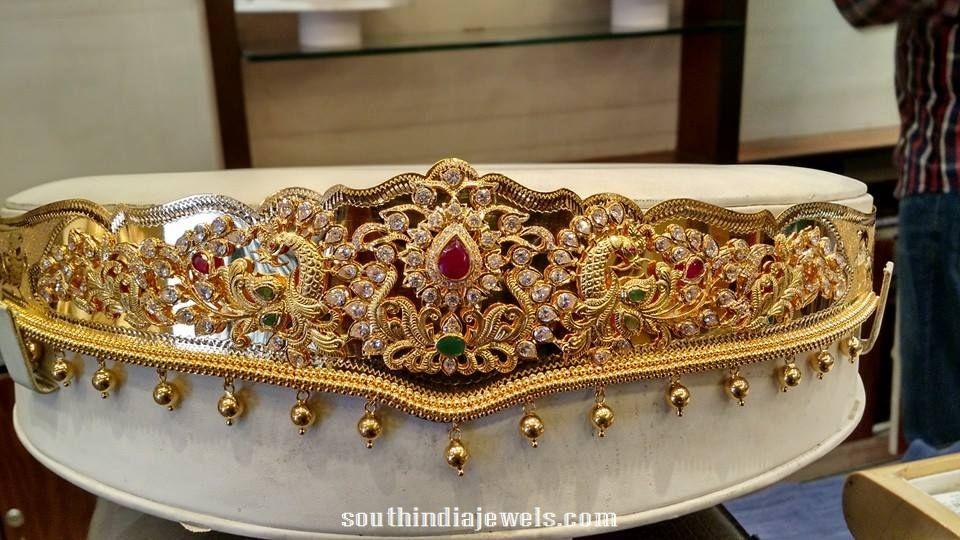 9b9e2ffb45168 22K Gold Peacock Waist Belt (Vaddanam) | Jewelry | Vaddanam designs ...