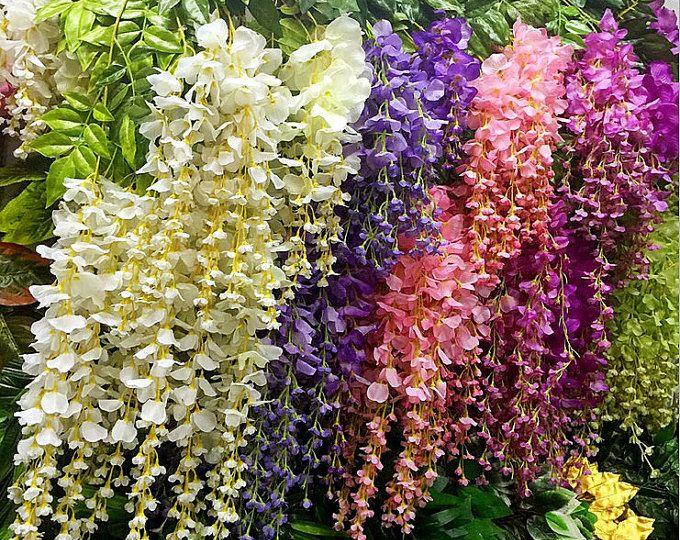 5 piezas artificiales de seda de glicina hogar jard n for Glicina planta