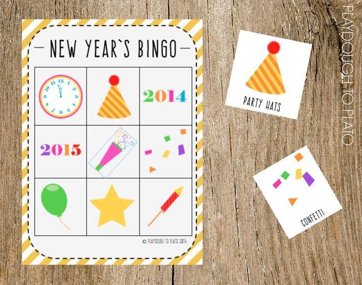 New Year's Eve Bingo Kids new years eve, New years eve