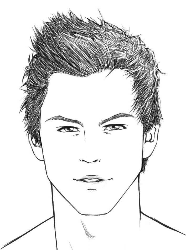 drawing draw male face
