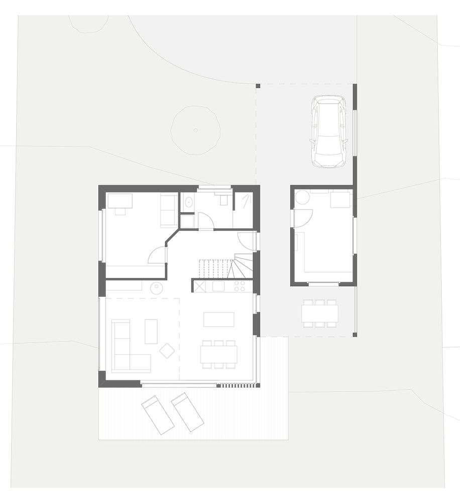 Gallery Of Crn House Alp Architecture Sarl 10 Ground Floor Plan Floor Plans Architecture
