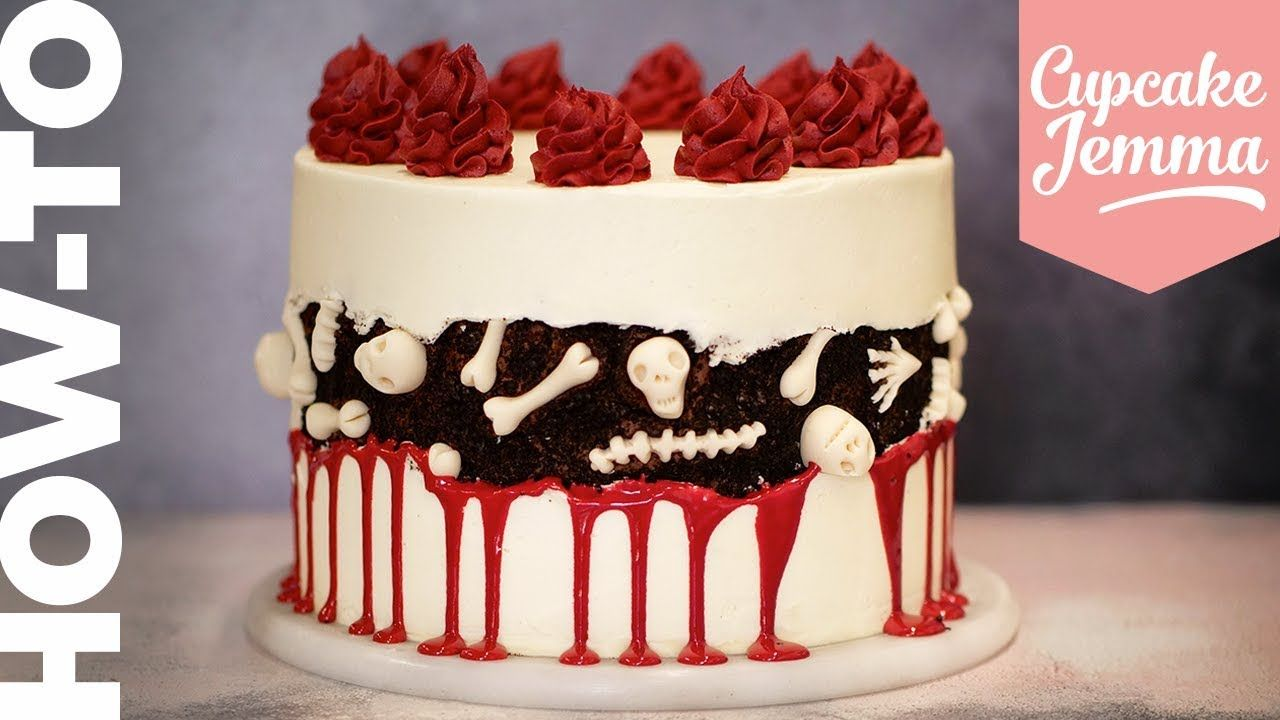 THE SPOOKIEST Halloween Graveyard FAULT-LINE CAKE ...