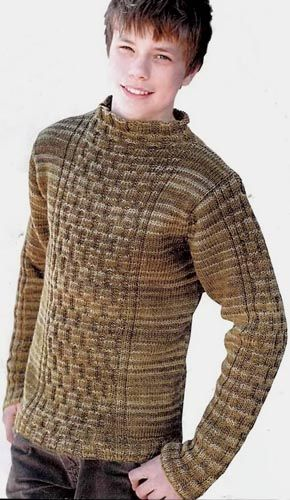 Вязание для мужчин. Пуловер с аранами. Модель 4 | Модели ...