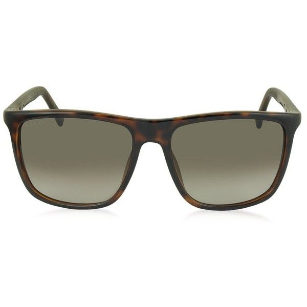 6edc37e6291 Gucci GG 1132 S DWJHA Havana Acetate Square Frame Men s Sunglasses (7.780  CZK)